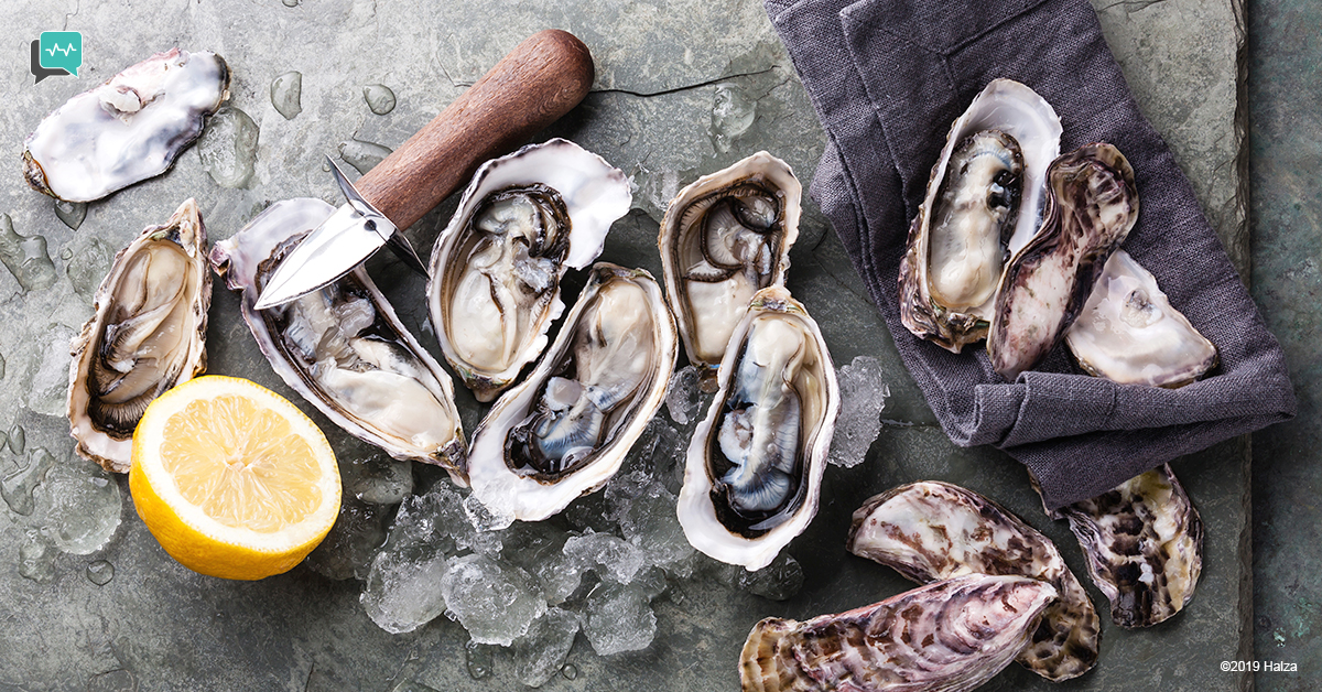 freshly shucked oysters seafood food hygiene food safety halza digital health