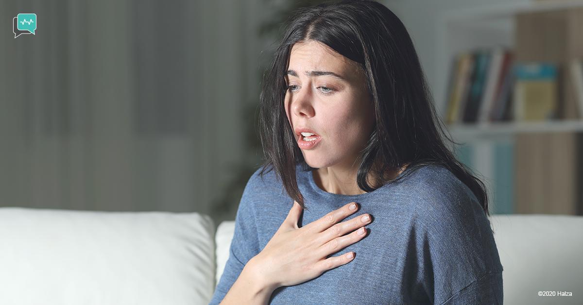 panic attack symptoms signs sweating shortness of breath halza digital health