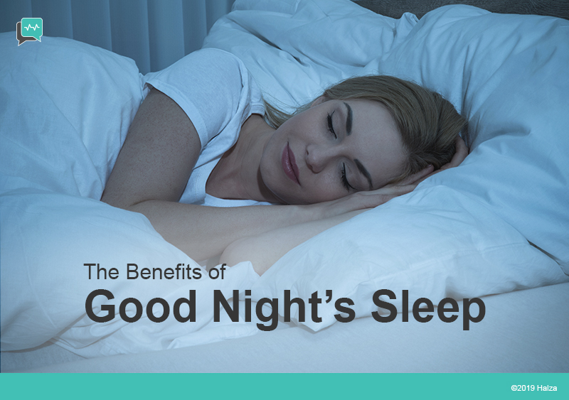 good night sleep rest insomnia benefits advantages halza digital healthcare