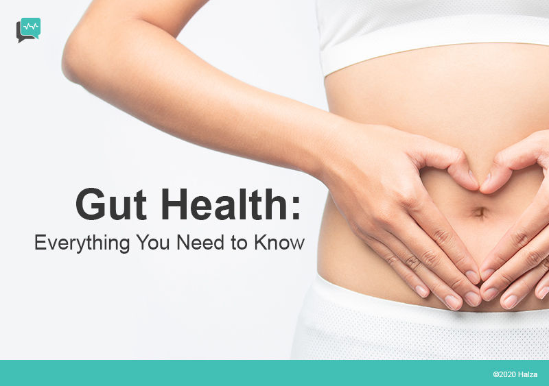 gut health microbiome bacteria digestive system intestines halza digital health