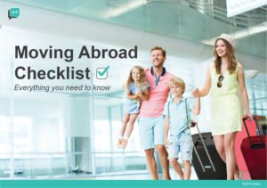 Moving Abroad Checklist – Everything You Need to Know