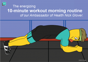 Ambassador of Health Nick Glover's 10-minute workout morning routine